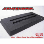 ARM02525 Rectangle Slotted 25mm x 50mm Bases (10) ArmsKeeper
