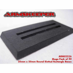 ARM02526 Rectangle Slotted 25mm x 50mm Bases Mega Pack (40)