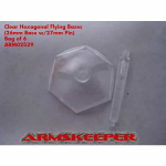 ARM02529 Hexagonal 26mm Clear Flying Bases with 27mm Pin (6)