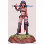 DSM1124 Female Fighter Journey to the Gathering Miniature Elmore Masterwork