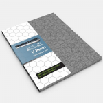 GGP1902 Grey Cobblestone Gaming Paper 1in Hexes Singles (100 Sheets)