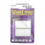 RPR74014 Horizontal Slotted Metal Base (2) 2in Square Reaper Miniatures