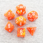 CHX27423 Vortex Solar with White Numbers 16mm 7 Dice Set