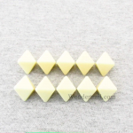 CHX29043 Ivory Blank 8 Sided Polyhedral Dice Set of 10 Chessex