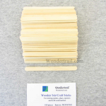 WONST002 Wooden Stir or Craft Sticks Pack of 100 Wondertrail