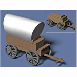 PEG6901 Wood Wagon Kit 1/25 Scale Model Pegasus Hobbies