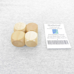 WKP18445E4 Natural Wood Blank Dice Cubes D6 30mm (1.18in) Pack of 4