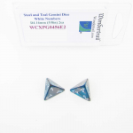 WCXPG0456E2 Steel and Teal Gemini Dice with White Numbers D4 Aprox 16mm (5/8in) Pack of 2 Wondertrail