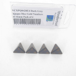 WCXPQ0420E4 Dark Grey Opaque Dice Gold Numbers D4 16mm Pack of 4