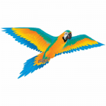 BRS72102 Blue Macaw 74in Nylon Kite Brainstorm Products