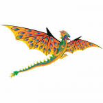BRS72104 Dragon Large Size 76in Nylon Kite Brainstorm Products