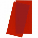 EVG9901 Red Transparent Styrene Sheets 2 Pk .010x6x12 Inches Evergreen