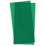 EVG9903 Green Transparent Styrene Sheets 2 Pk .010x6x12 Inches Evergreen