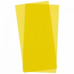 EVG9904 Yellow Transparent Styrene Sheets 2 Pk .010x6x12 Inches Evergreen