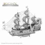 FASICX009 Queen Annes Revenge 3D Metal Model Kit Iconic Series Fascinations