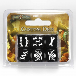 CMNRB011 Rum And Bones Custom Dice Black