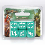 CMNRB012 Rum And Bones Custom Dice Green