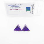 WCXPB0417E2 Royal Purple Borealis Dice with Gold Numbers D4 Aprox 16mm (5/8in) Pack of 2 Wondertrail