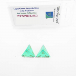 WCXPB0425E2 Light Green Borealis Dice with Gold Numbers D4 Aprox 16mm (5/8in) Pack of 2 Wondertrail