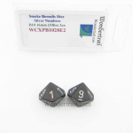 WCXPB1028E2 Smoke Borealis Dice with Silver Numbers D10 Aprox 16mm (5/8in) Pack of 2 Wondertrail