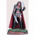 DSM1144 Female Fighter with Long Sword and Dagger The Protector Miniature