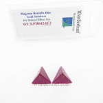 WCXPB0424E2 Magenta Borealis Dice with Gold Numbers D4 Aprox 16mm (5/8in) Pack of 2 Wondertrail