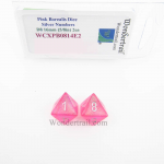 WCXPB0814E2 Pink Borealis Dice with Silver Numbers D8 Aprox 16mm (5/8in) Pack of 2 Wondertrail