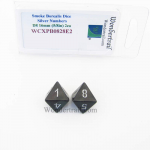 WCXPB0828E2 Smoke Borealis Dice with Silver Numbers D8 Aprox 16mm (5/8in) Pack of 2 Wondertrail