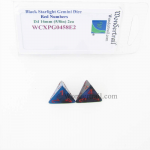 WCXPG0458E2 Black Starlight Gemini Dice Red Numbers D4 16mm Pack of 2