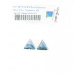 WCXPP0489E2 Teal Phantom Dice Silver Numbers  D4 Aprox 16mm Pack of 2