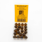 WONGM008 Amber Transparent 14mm Glass Marbles Pack of 20