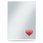 UPR84750 Emoji Heart Deck Protector Sleeves 50ct Ultra Pro