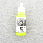 VAL70730 Yellow Fluorescent Model Color Acrylic Paint 17ml Bottle