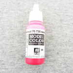 VAL70735 Magenta Fluorescent Model Color Acrylic Paint 17ml Bottle