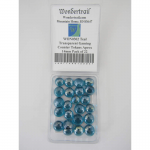 WON0302 Teal Transparent Gaming Counter Tokens Aprox 14mm Pack of 22