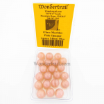 WONGM010 Pink Opaque 14mm Glass Marbles Pack of 20