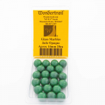 WONGM013 Jade Opaque 14mm Glass Marbles Pack of 20