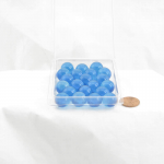 WONGM020 Azure Blue Transparent 14mm Glass Marbles Pack of 20