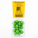 WONGM102 Green Opaque 16mm Glass Marbles Pack of 20