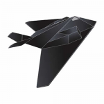 BRS71255 Wind Force Stealth 44in Nylon Kite With Fiberglass Airframe Wind N Sun Brainstorm Kites