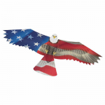 BRS72109 Patriot USA Eagle 70.5x28.75in Ripstop Nylon Kite With Fiberglass Airframe Wind N Sun Brainstorm Kite