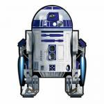 BRS72112 R2D2 48in Nylon Kite With Fiberglass Airframe Star Wars Wind N Sun Brainstorm Kites