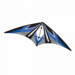 BRS72381 Blue EZ Sports 70in Nylon Kite With Fiberglass Airframe Wind N Sun Brainstorm Kites
