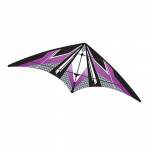BRS72382 Purple EZ Sports 70in Nylon Kite With Fiberglass Airframe Wind N Sun Brainstorm Kites