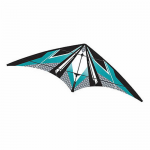 BRS72384 Teal EZ Sports 70in Nylon Kite With Fiberglass Airframe Wind N Sun Brainstorm Kites