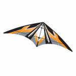 BRS72385 Yellow EZ Sports 70in Nylon Kite With Fiberglass Airframe Wind N Sun Brainstorm Kites