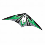 BRS72386 Green EZ Sports 70in Nylon Kite With Fiberglass Airframe Wind N Sun Brainstorm Kites