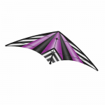 BRS72388 Purple Stripe EZ Sports 70in Nylon Kite With Fiberglass Airframe Wind N Sun Brainstorm Kites
