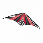 BRS72389 Red Stripe EZ Sports 70in Nylon Kite With Fiberglass Airframe Wind N Sun Brainstorm Kites