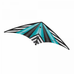 BRS72390 Teal Stripe EZ Sports 70in Nylon Kite With Fiberglass Airframe Wind N Sun Brainstorm Kites